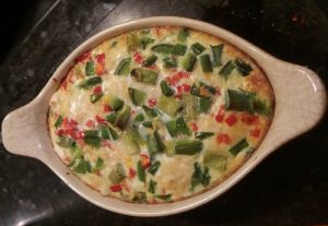 Oven Baked Crab Omelette - Finished and ready to eat