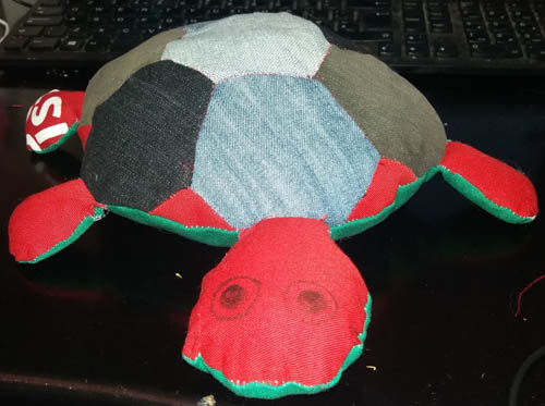 Scrap Cloth Turtle
