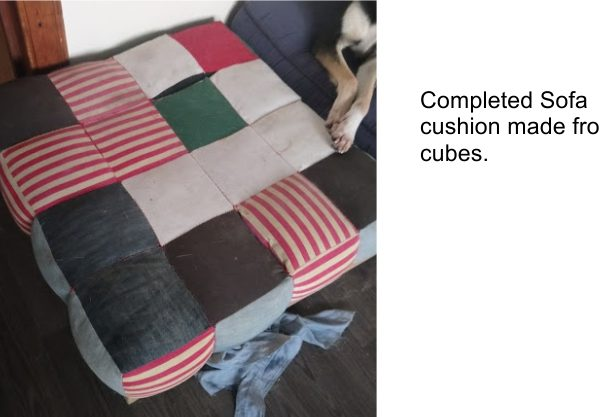 Completed Cube Cushions - The Creative Patch