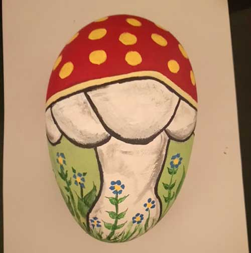 Rock Painting -Toadstool-The-Creative-Patch